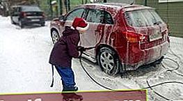 Kuinka pestä autosi talvella