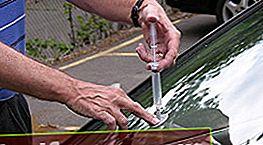 Reparation af chips og revner i en bils forrude