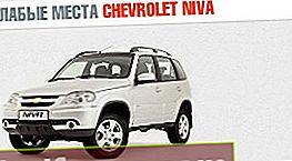 Vājās puses Chevrolet Niva