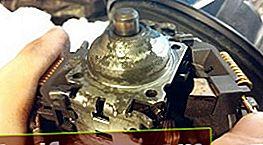 Inspektion og smøring af bøsningerne på Ford Focus 1 komfurmotor