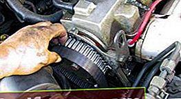 Udskiftning af tandremmen på en Mazda med en 2,2 liters motor. (F2)