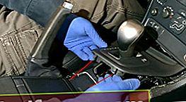 Automaatkäigukasti käepideme ja seisupiduri Volvo C60 kaante vahetamine